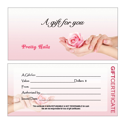 salon giftcertificate A12 Top Result 70 Unique Nail Gift Certificate