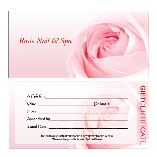 salon giftcertificate A2 Top Result 70 Unique Nail Gift Certificate