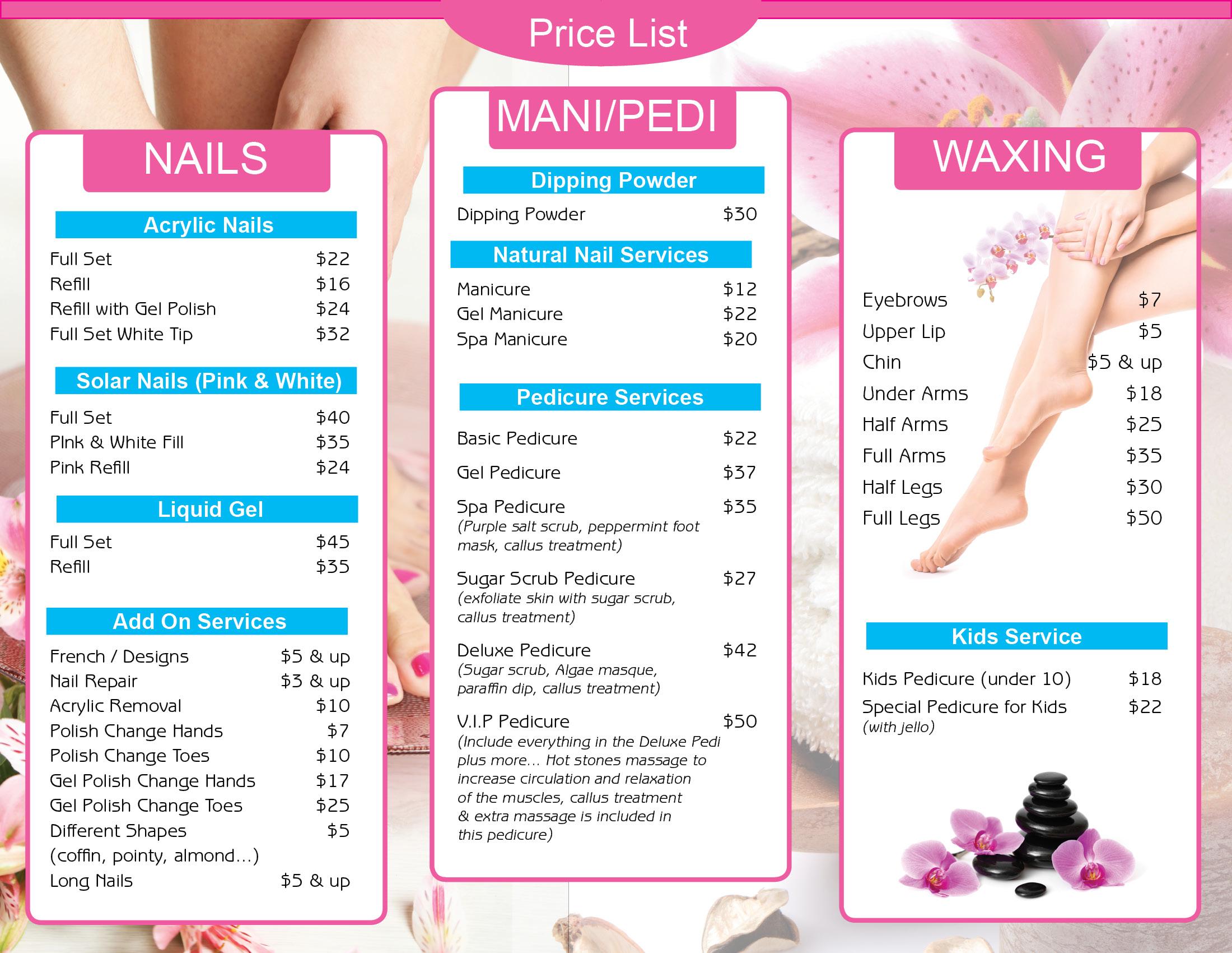 Hair Nail Spa Printing
